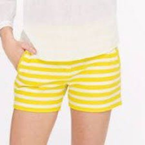 J. Crew Yellow and White Striped Shorts Size 4